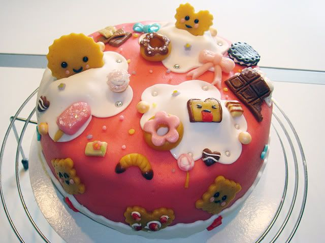 All the kawaii on one cake From Noukster in the City Kawaii