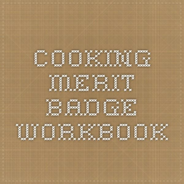 Cooking Merit Badge Workbook Pdf File With Images Boy Scouts