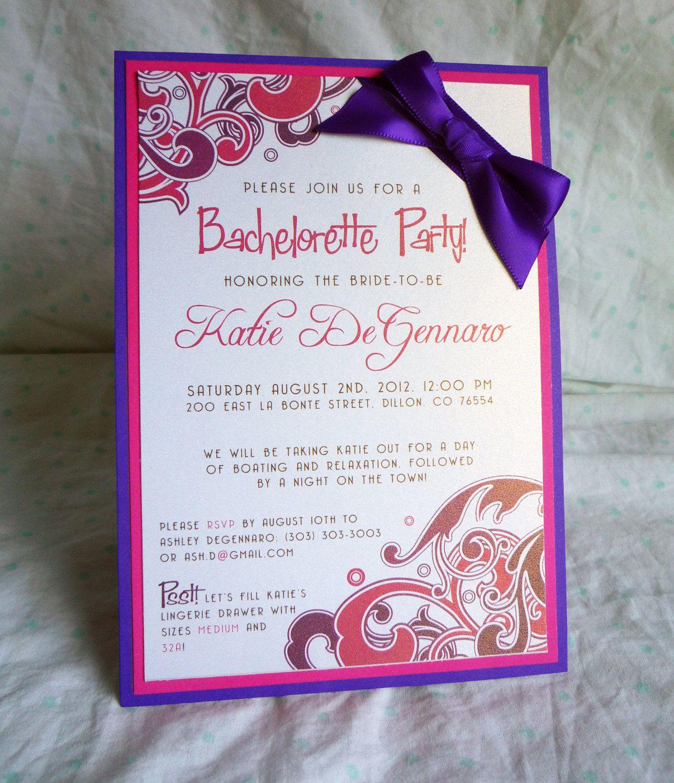 Purple and Pink Flourish Custom Bachelorette