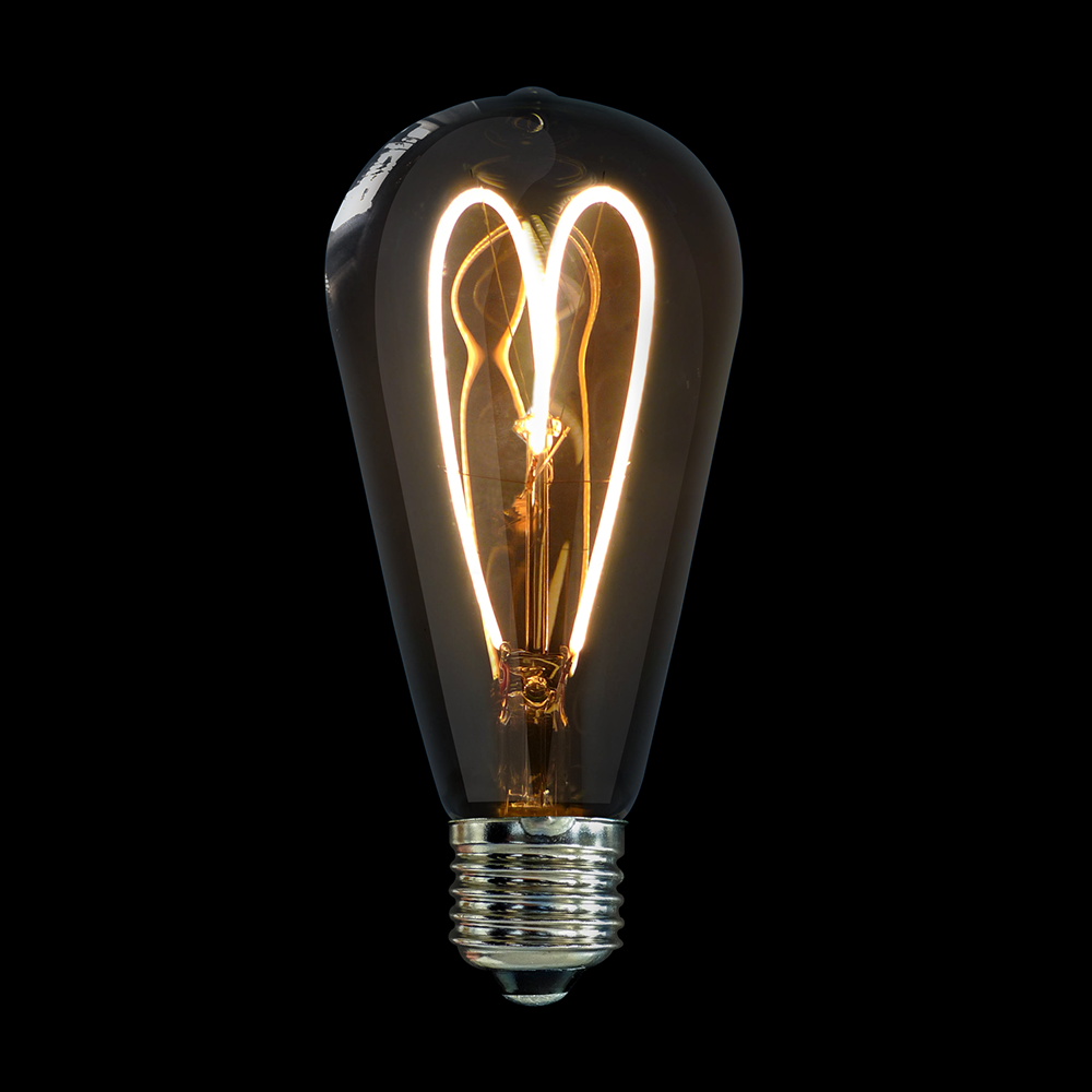 Teardrop st64 william and watson vintage edison bulb industrial light - This Liquidleds Vintage Bulb Has A Patented Twin Loop Filament That Enhances The Bulb S Nostalgic Look