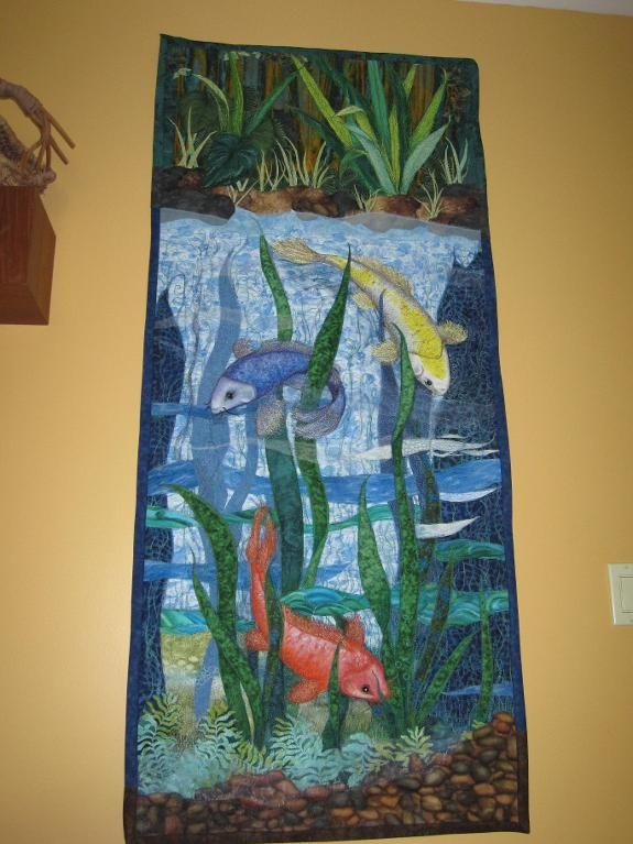 See cane corso mom 39 s projects on craftsy support unique for Koi pond quilt pattern