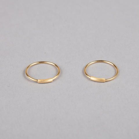 Maria Black Basic Hoop Earrings Small - Gold - Trouva