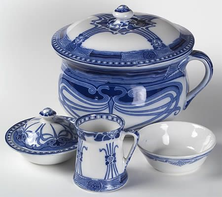 Quot Flow Blue Quot China Pattern In Blue Amp White With Art Nouveau