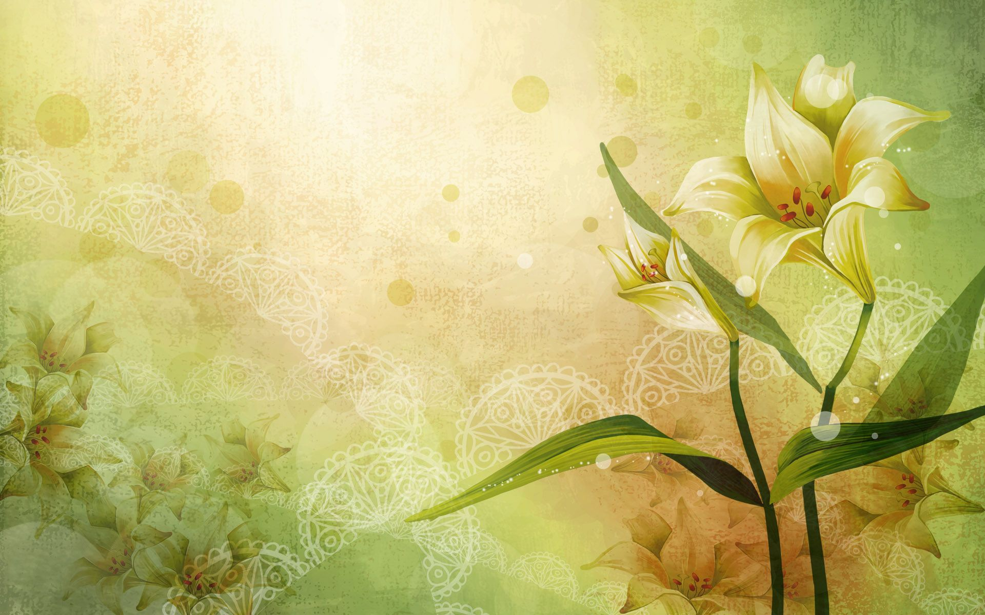Soothing Flower Background Wallpaper Vector Flowers Flower Backgrounds Flower theme wallpaper images