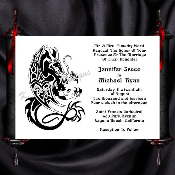 Tree Of Life Invitation Rsvp Celtic Life By: Dragon Invitation & RSVP