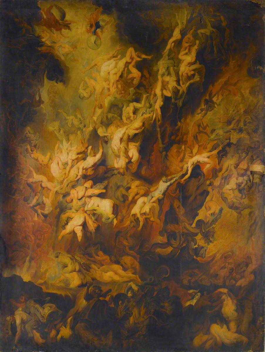 the fall of the damned copy after peter paul rubens guy head 1760 rh pinterest com