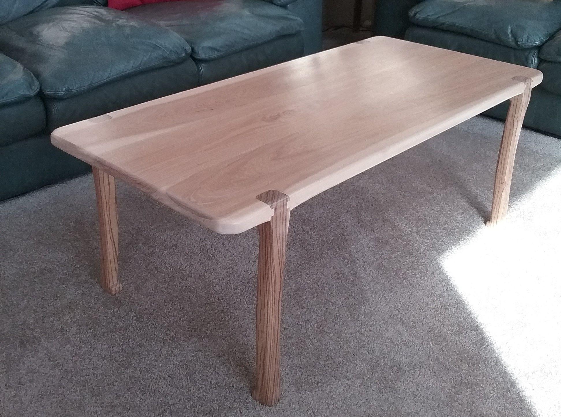 coffee table hickory zebra wood inspired by sam maloof don owen rh pinterest com