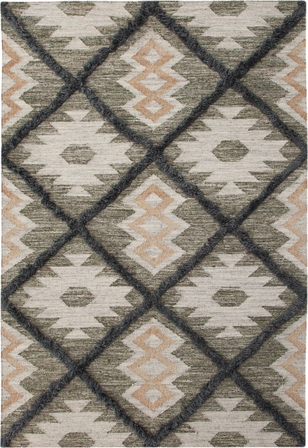 Fes 8 X 10 Area Rug Blue Green Rugs Green Grey Southwest Rugs