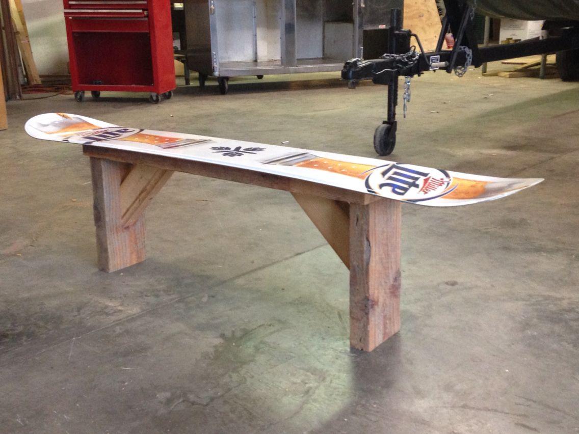 Snowboard Bench Skateboard Furniture Ski Lodge Decor Ski Decor