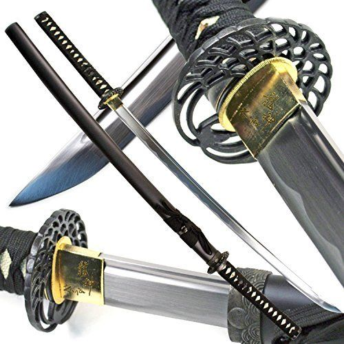 "Traditional 40/"" Handmade Japanese Samurai Sharp Katana Sword with Scabbard NEW"