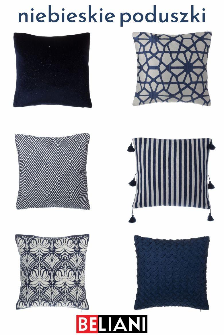 Niebieskie Poduszki Dekoracyjne Do Salonu Lub Sypialni