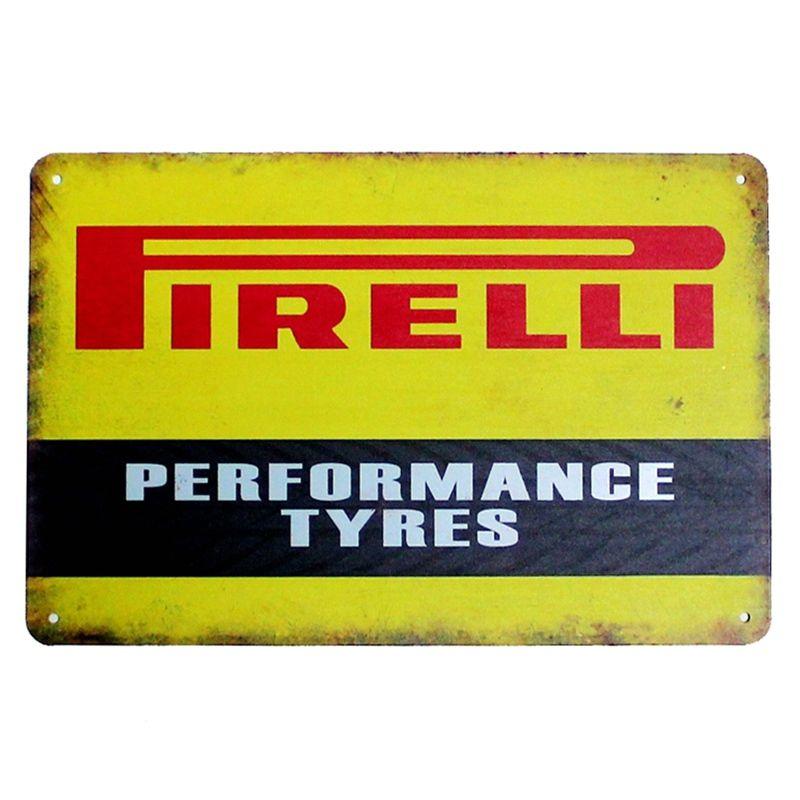 Vintage Metal Poster Pirelli 20x30cm Vintage Tin Signs Vintage