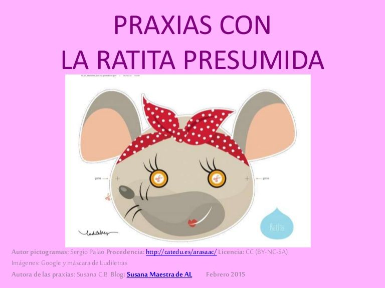 Praxias Con La Ratita Presumida Kindergarden Speech Therapy Speech Language Pathology