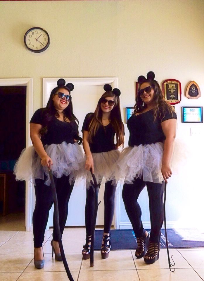 Cute & easy work appropriate Halloween costume for under $10! The three blind Mice, great for group costume ideas!