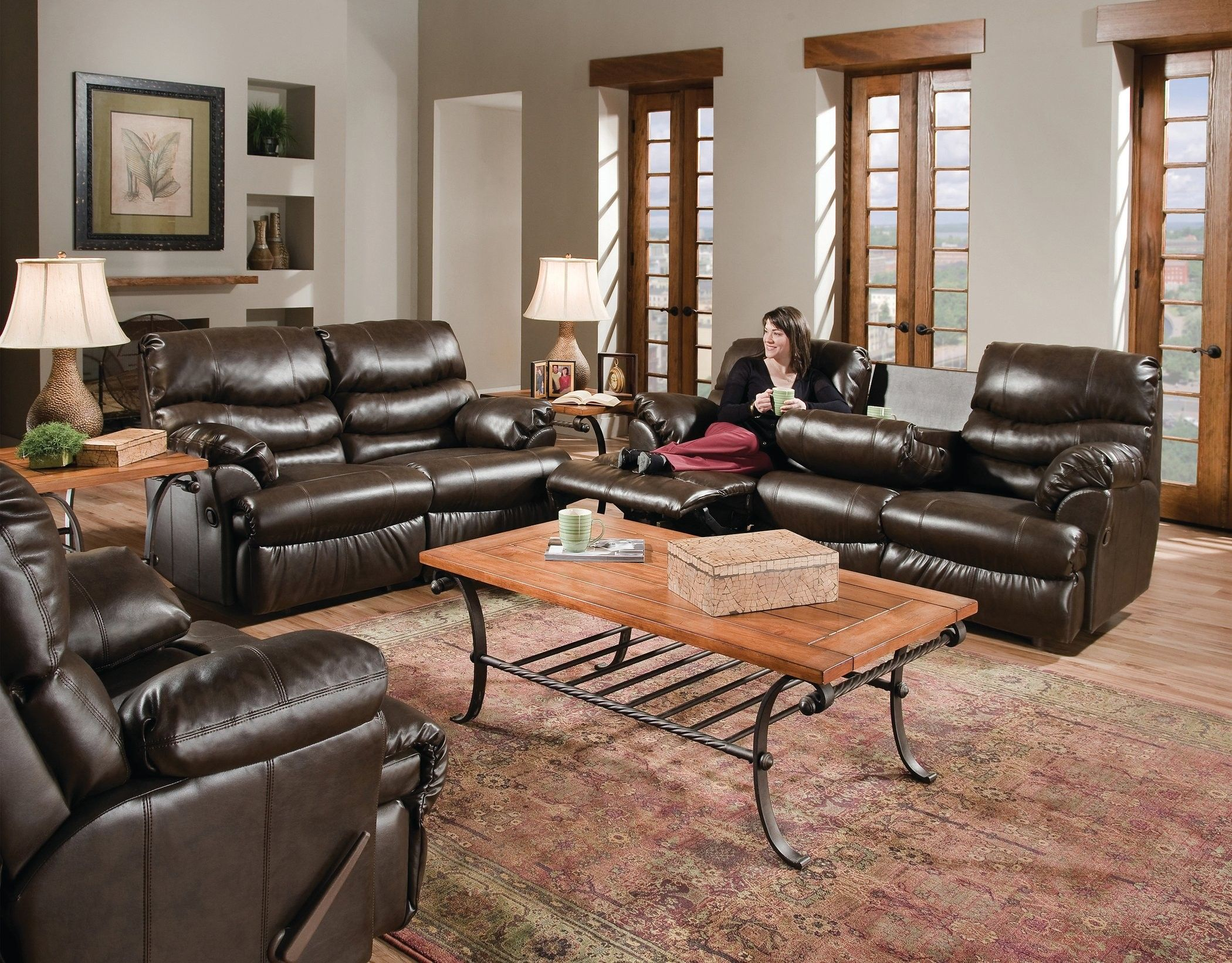 Franklin Wyoming Reclining Loveseat Conns