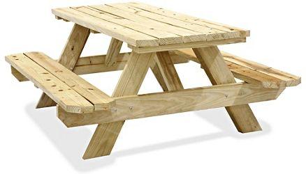 wooden picnic tables in stock uline burg r bar pinterest rh pinterest com