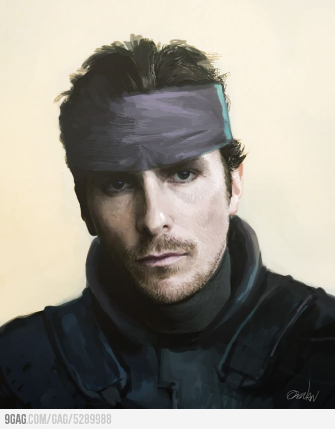 christian bale needs to play snake in the metal gear movie manga rh pinterest ca