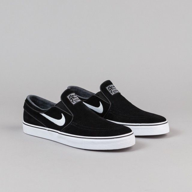 308d8cb6ea6 Nike SB Stefan Janoski Slip On Shoes - Black   White