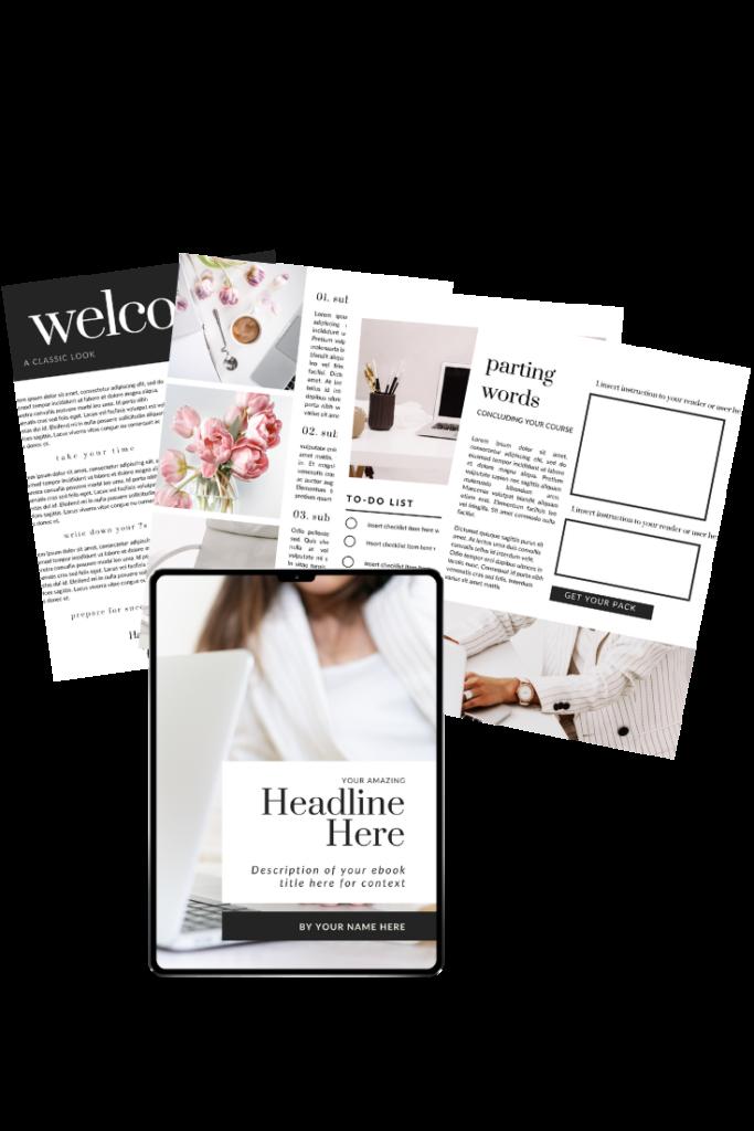 Lady Boss Free eBook Canva Template Templates, Free