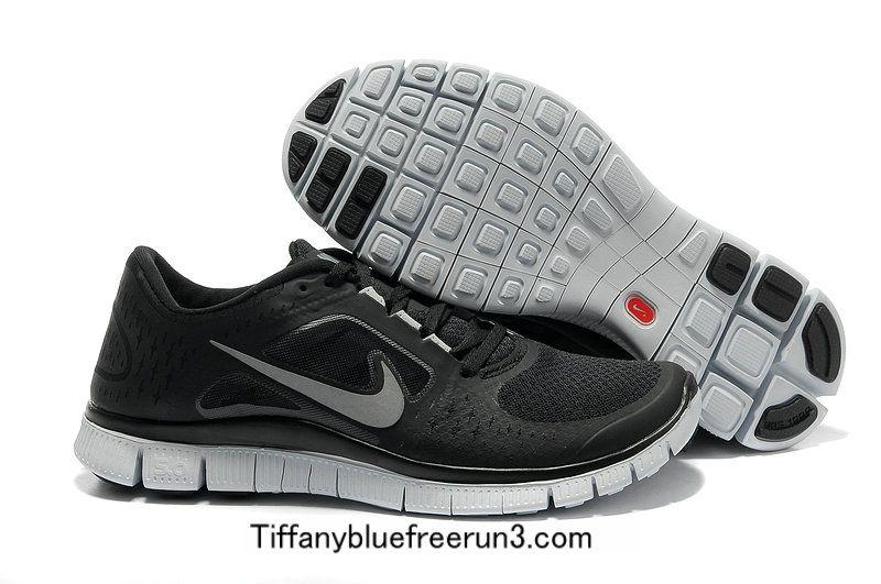 Nike Free Run 3 Loup Gris / Noir / Blanc