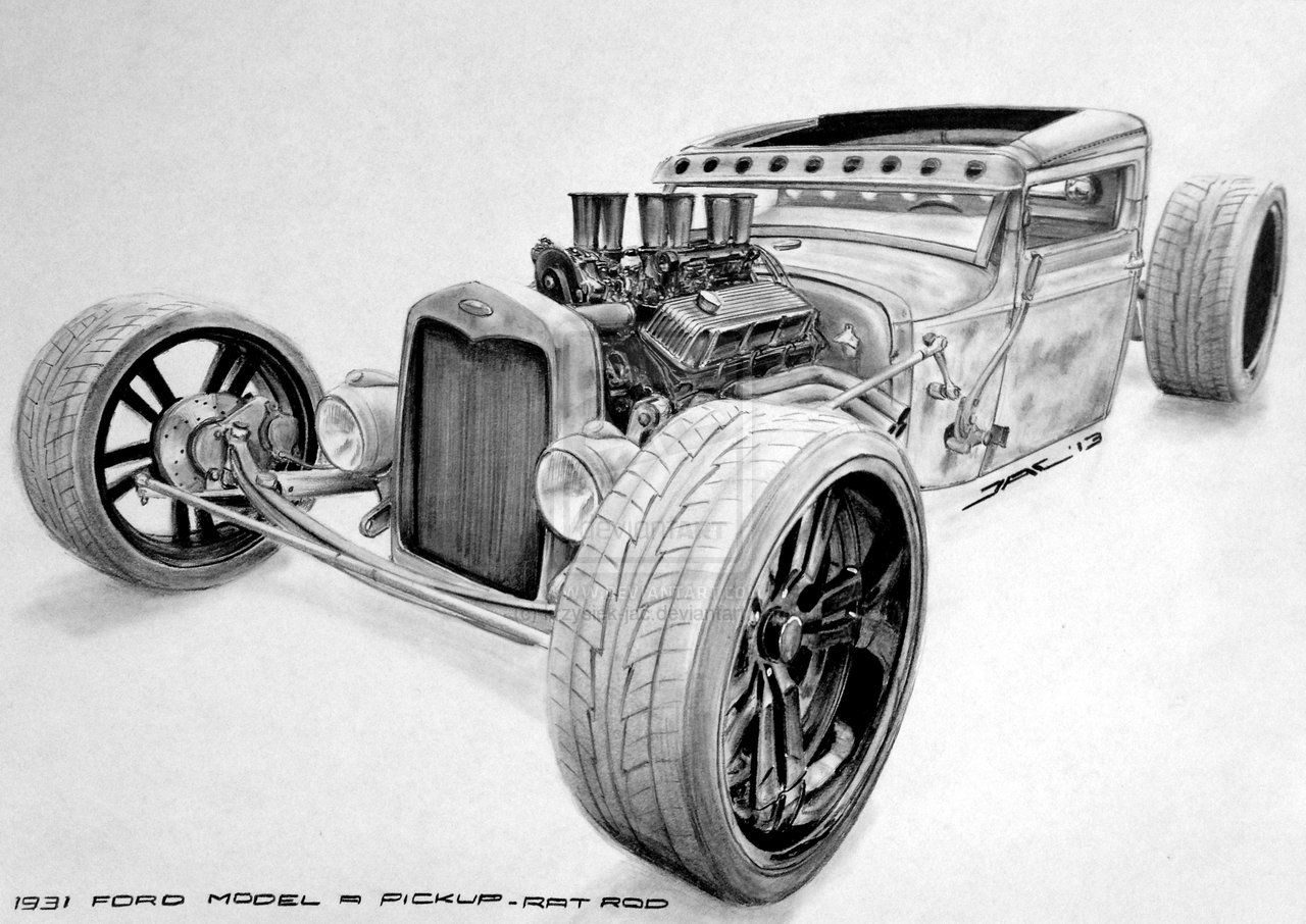 Never drawn a Rat Rod before so what the heck. Description