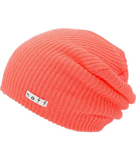 Stand out in a vibrant neon coral colorway with an oversized slouchy fit  for casual style. a2a3deb8e2d