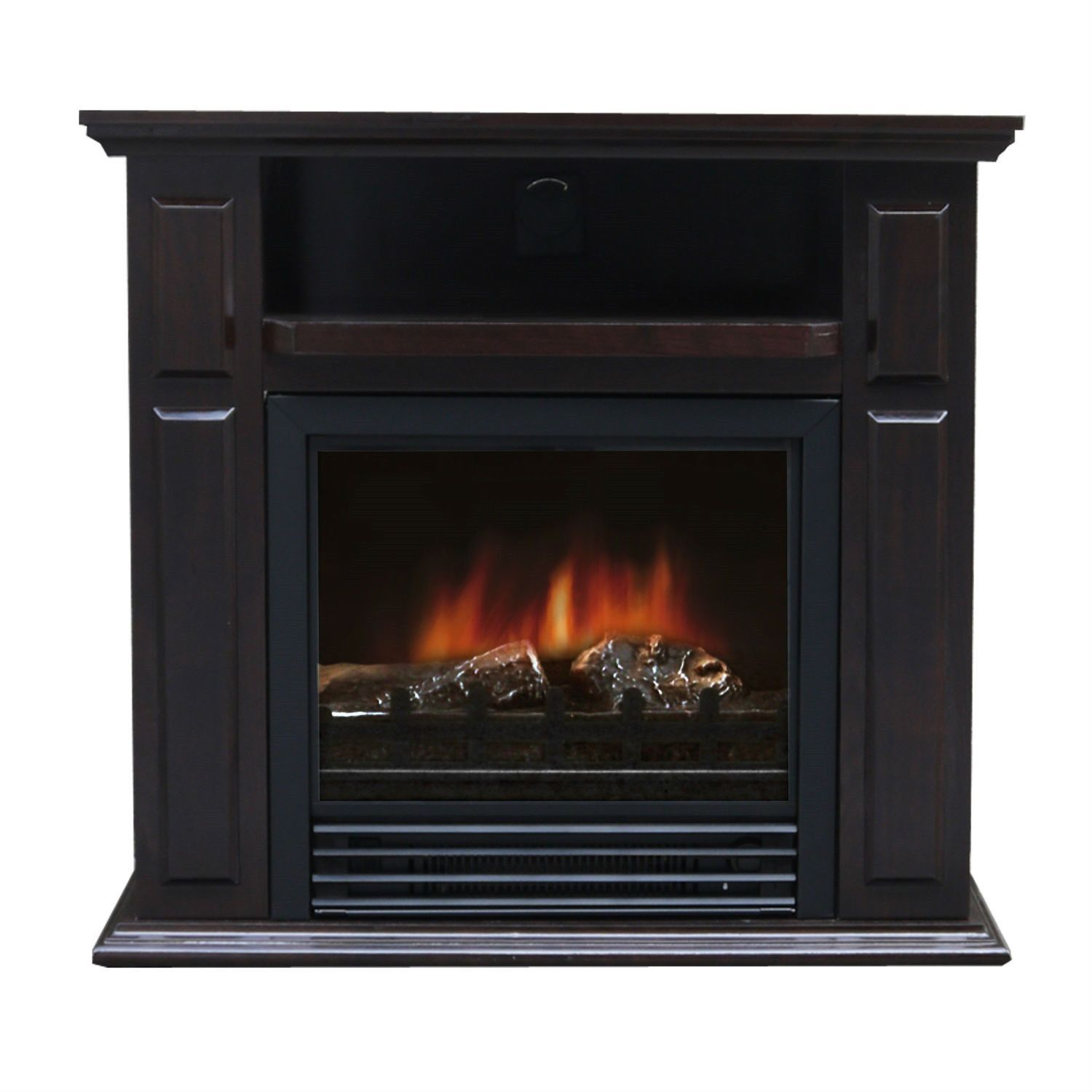 electric fireplace space heater with realistic flame fireplace