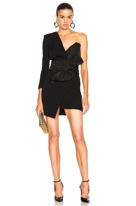5beed42cab7b3 Alexandre Vauthier One Shoulder Dress in Black