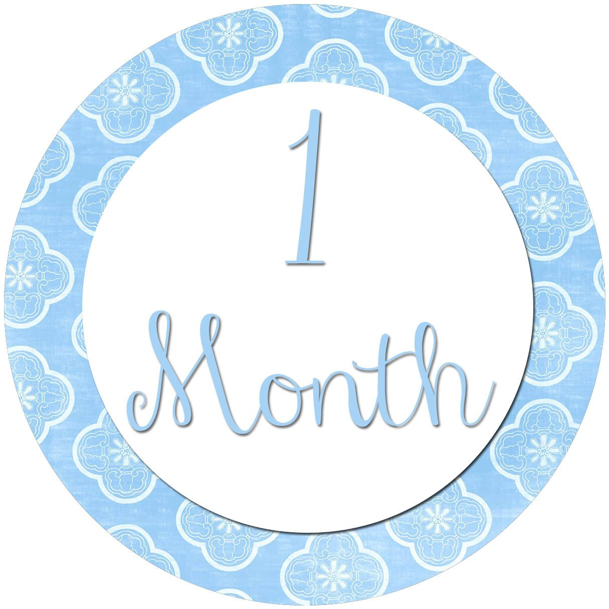 All Four Love Diy Month To Month Stickers Baby Month Stickers Baby Milestone Stickers Month Stickers
