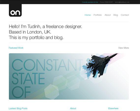 minimalist web design inspiration