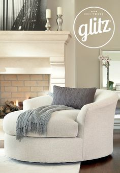 a rounded and large scale chair makes a statement all on its own rh pinterest com