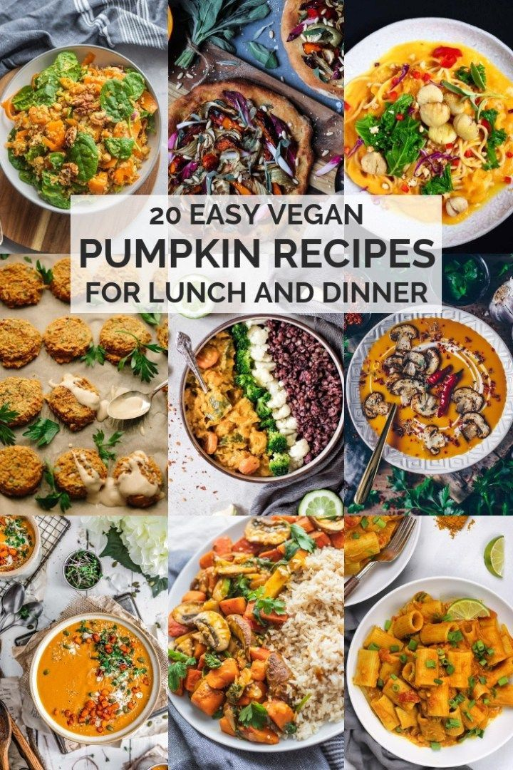 20 Easy Vegan Pumpkin Recipes For Lunch And Dinner images