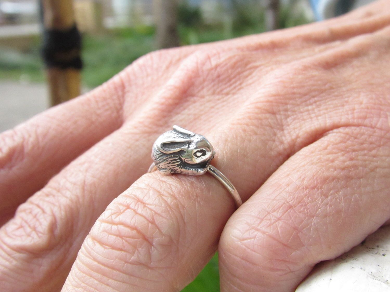 Baby Bunny Ring by GoldfishJDS on Etsy https://www.etsy.com/listing ...