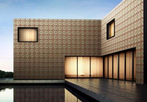 Rarely Used For Exterior Design, These Large Square Tiles Line The