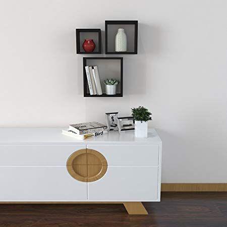 homdox square floating shelvescube floating wall shelf for diy home rh pinterest com