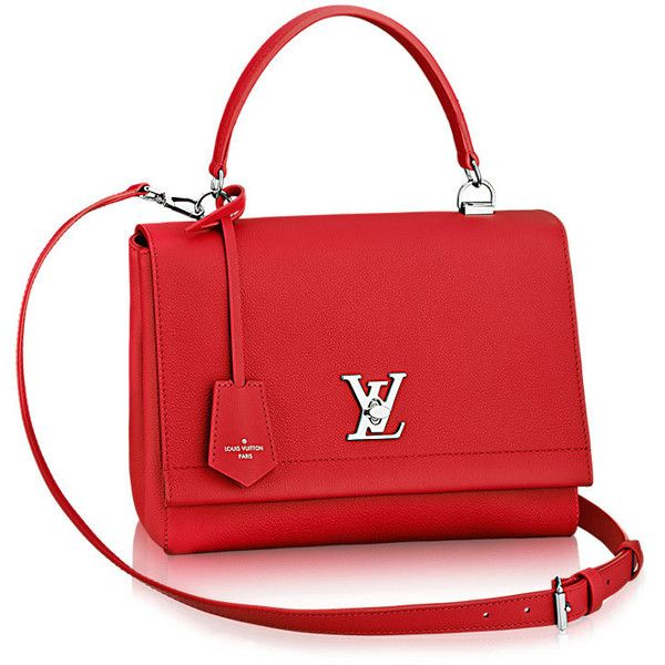 Lockme II ❤ liked on Polyvore featuring bags, handbags, shoulder bags, over the shoulder purse, over the shoulder handbags, red crossbody handbags, crossbody shoulder bag and red crossbody purse