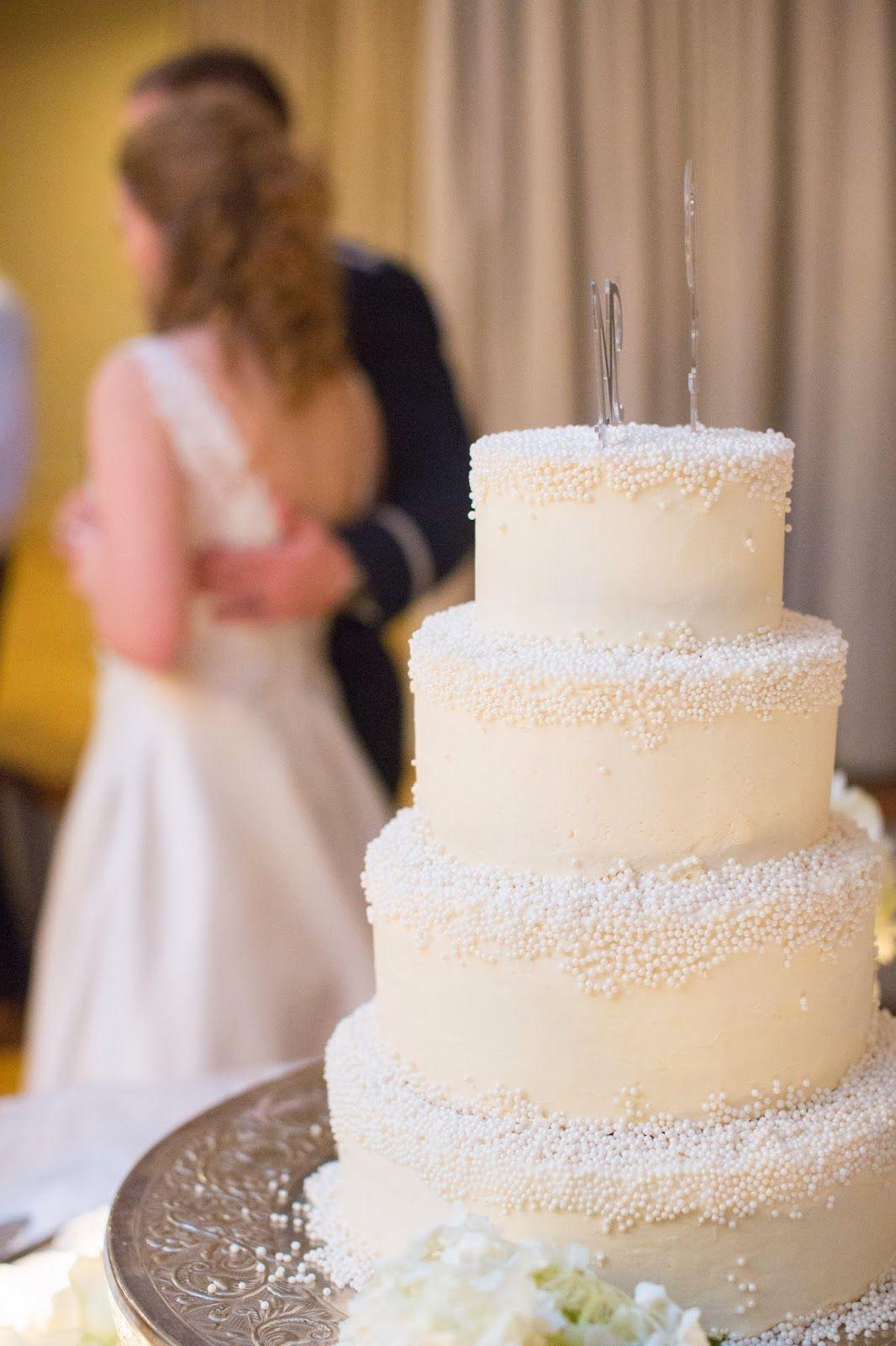A Snowy Winter Wedding Cake Photo TY Photography Sweet Emma Lou Virginia Beach