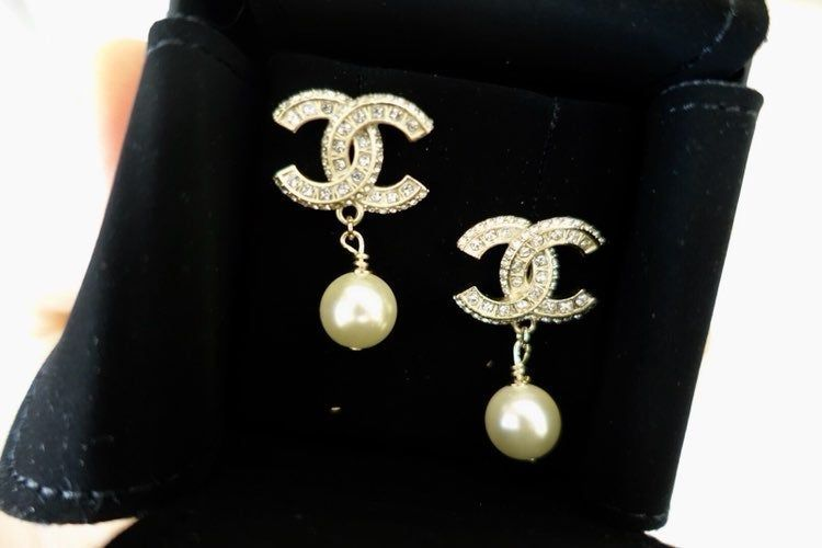 Pre Owned Chanel Costume Earring A86506 Like New Come With Box