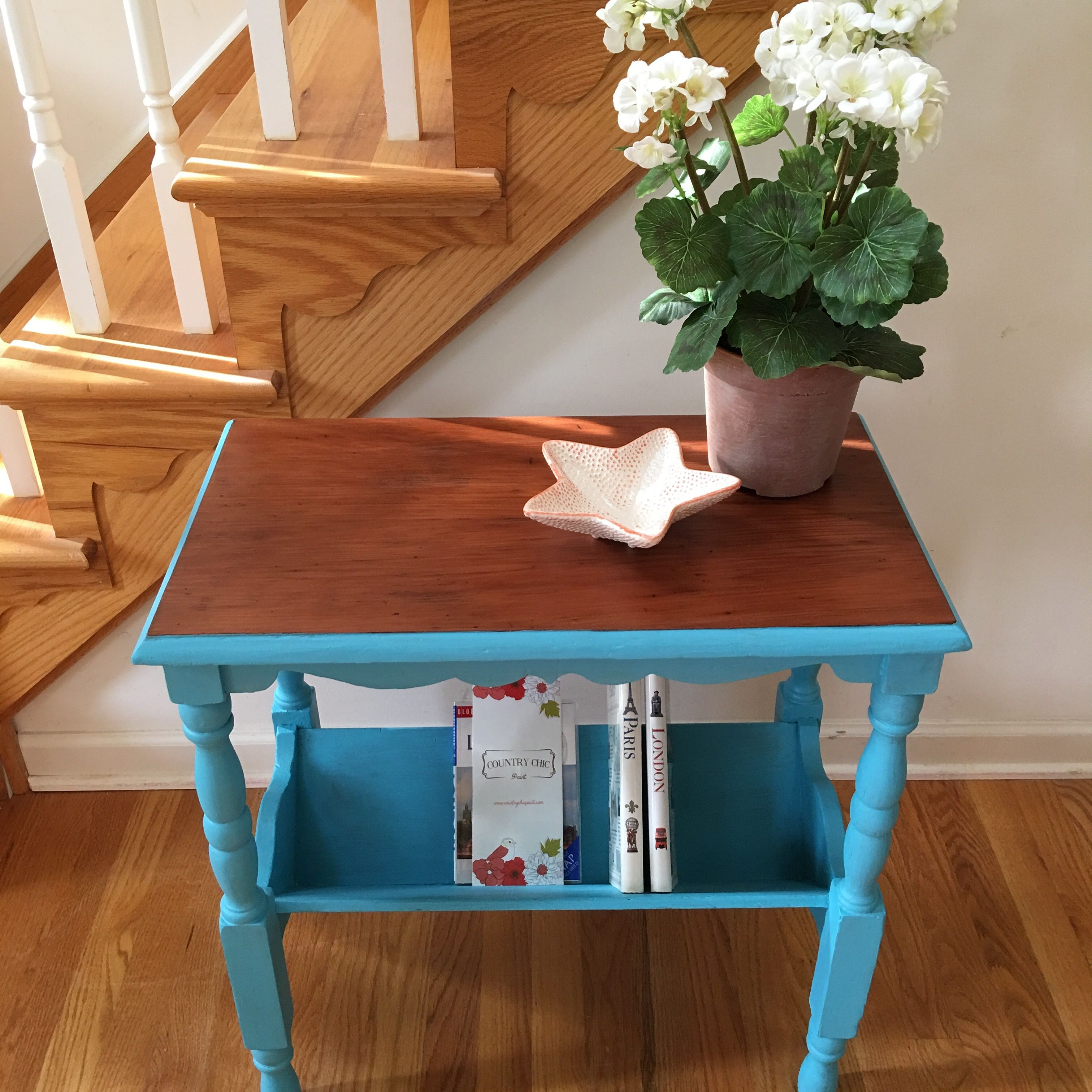 Paint furniture Vintage table with a natural