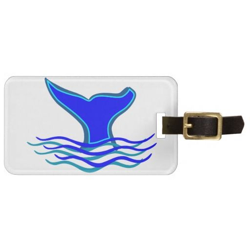 Whale Tail Travel Bag Tag