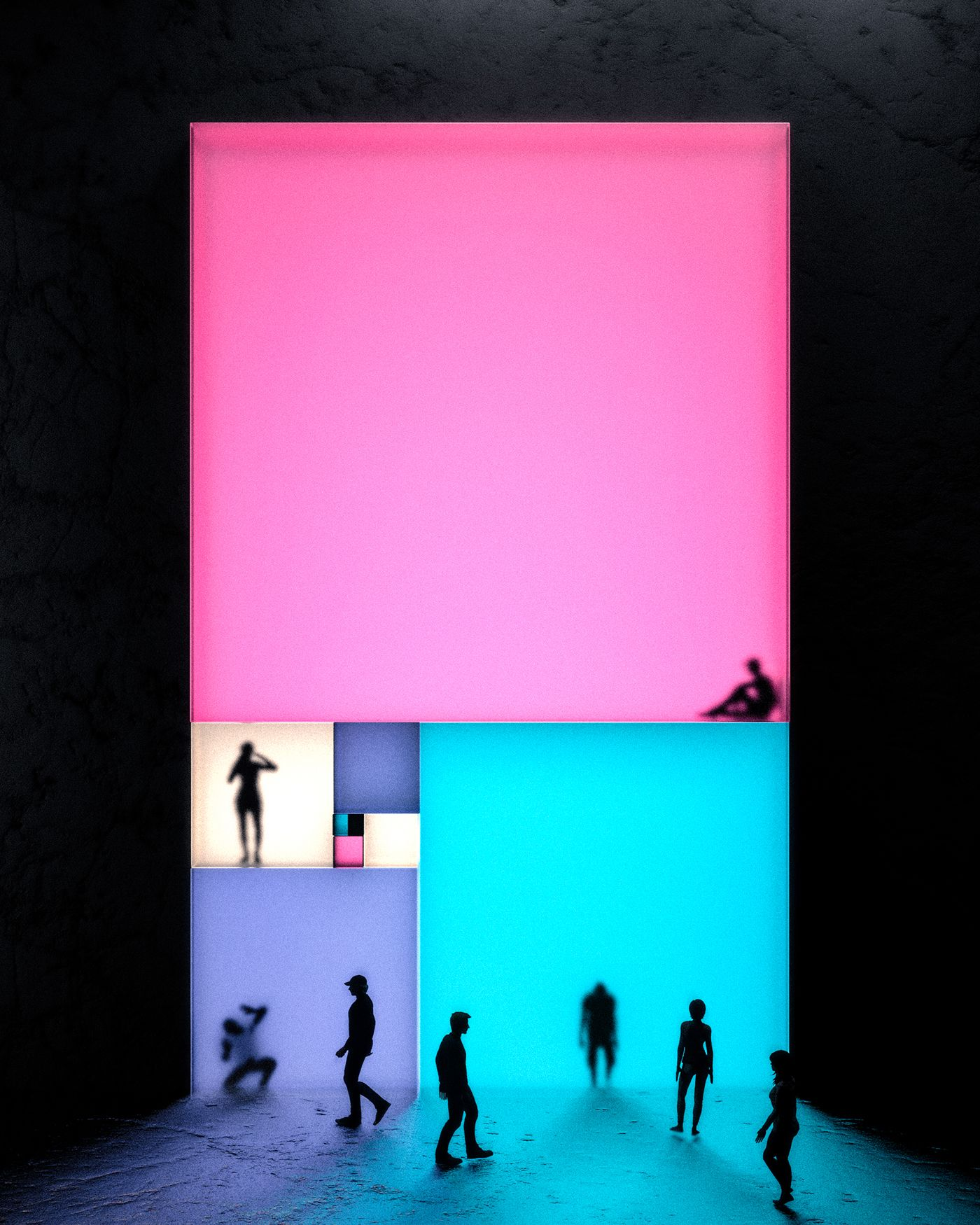 Passing Through on Behance #lightartinstallation