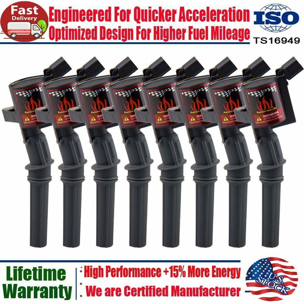 Ignition Coil 8 Pack For Ford 4.6L 5.4L F-150 XL F250 F550 4.6//5.4L FD503 DG508