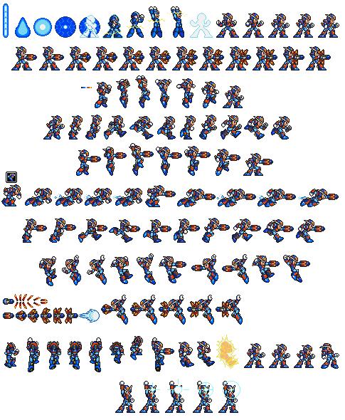 Megaman X Custom Suit By Cyros L Png 485 590 Pixel Art Sprite Art