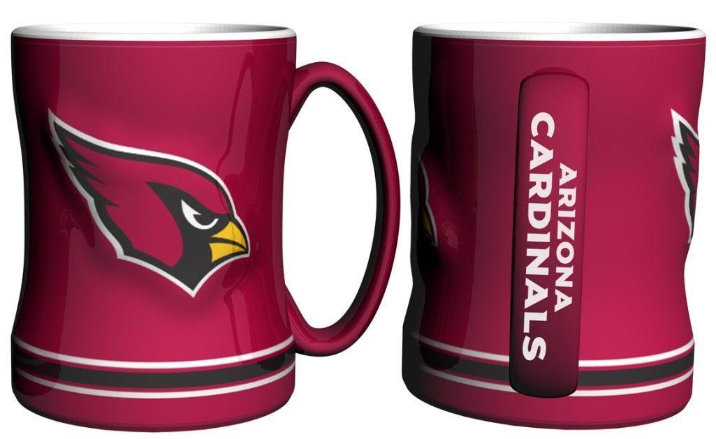 Arizona Cardinals 14oz Sculpted Relief Coffee Mug
