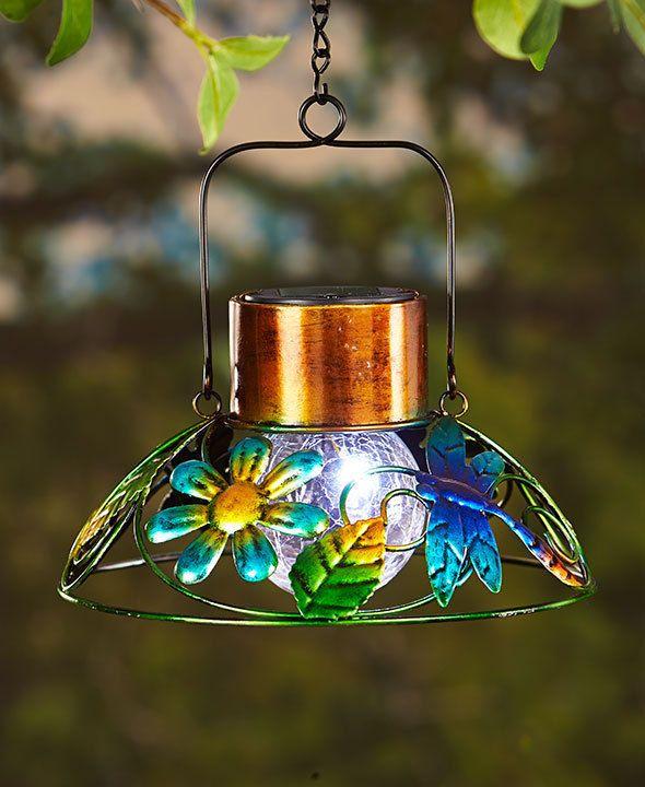 Solar Dragonfly Garden Lamp Lantern Hanging Outdoor Garden Home Decor Lighting Thebigdis With Images Solar Garden Lamps Solar Lights Garden Outdoor Solar Lights
