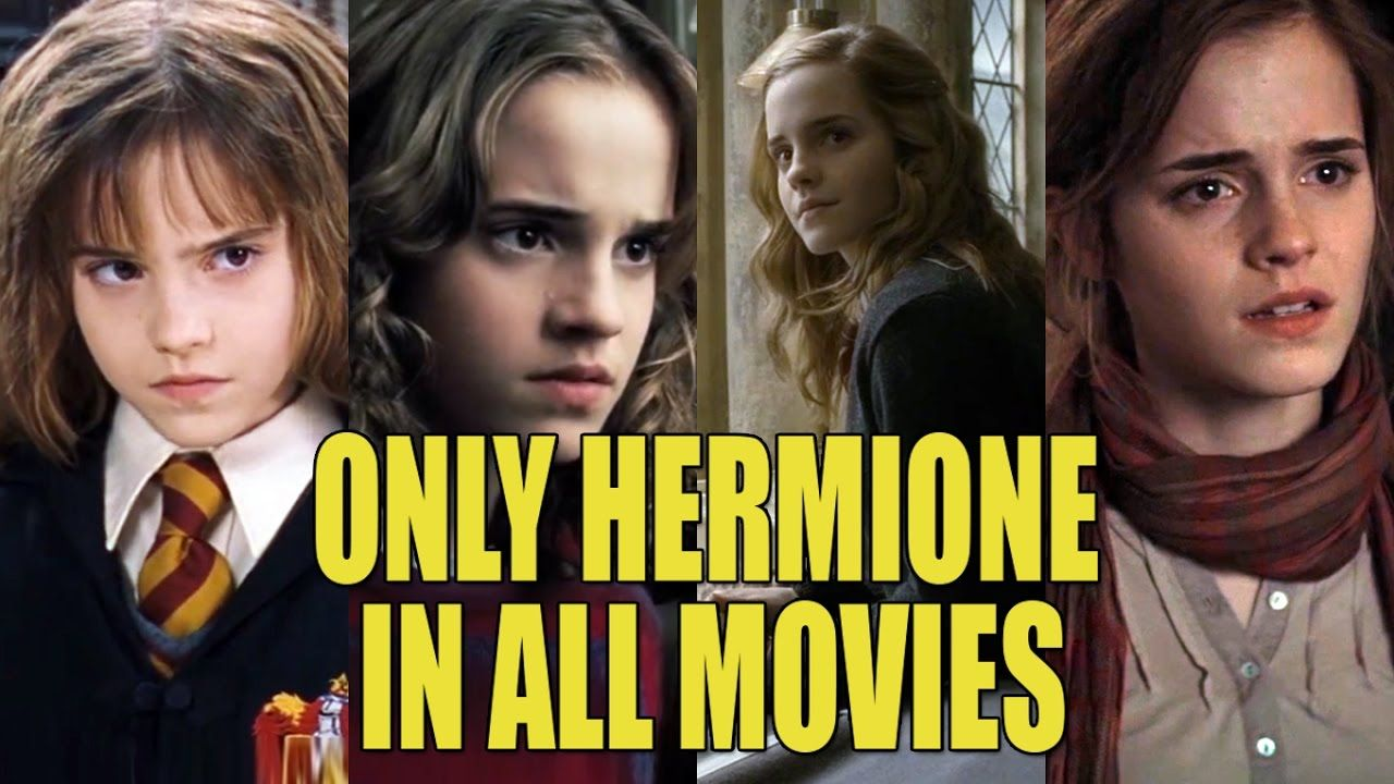Only Hermione Through All 8 Harry Potter Movies Evolution Of Hermione Harry Potter Movies Hermione Granger Hermione