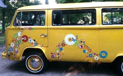 Hippie Wagon 13 Something Flower Car Vw Camper Volkswagen Bus