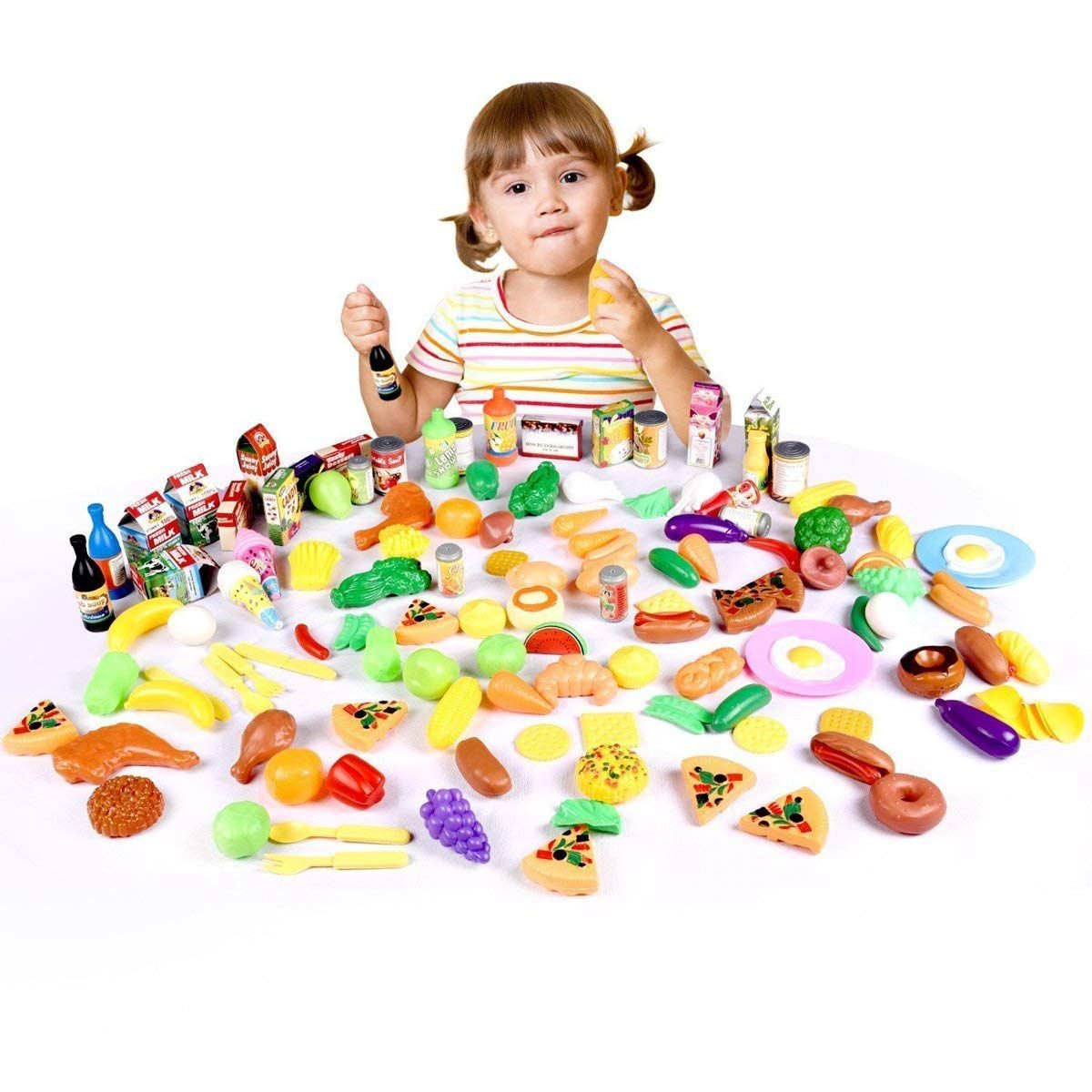 play food set for kids and toy food for pretend play huge 130 pieces rh pinterest com