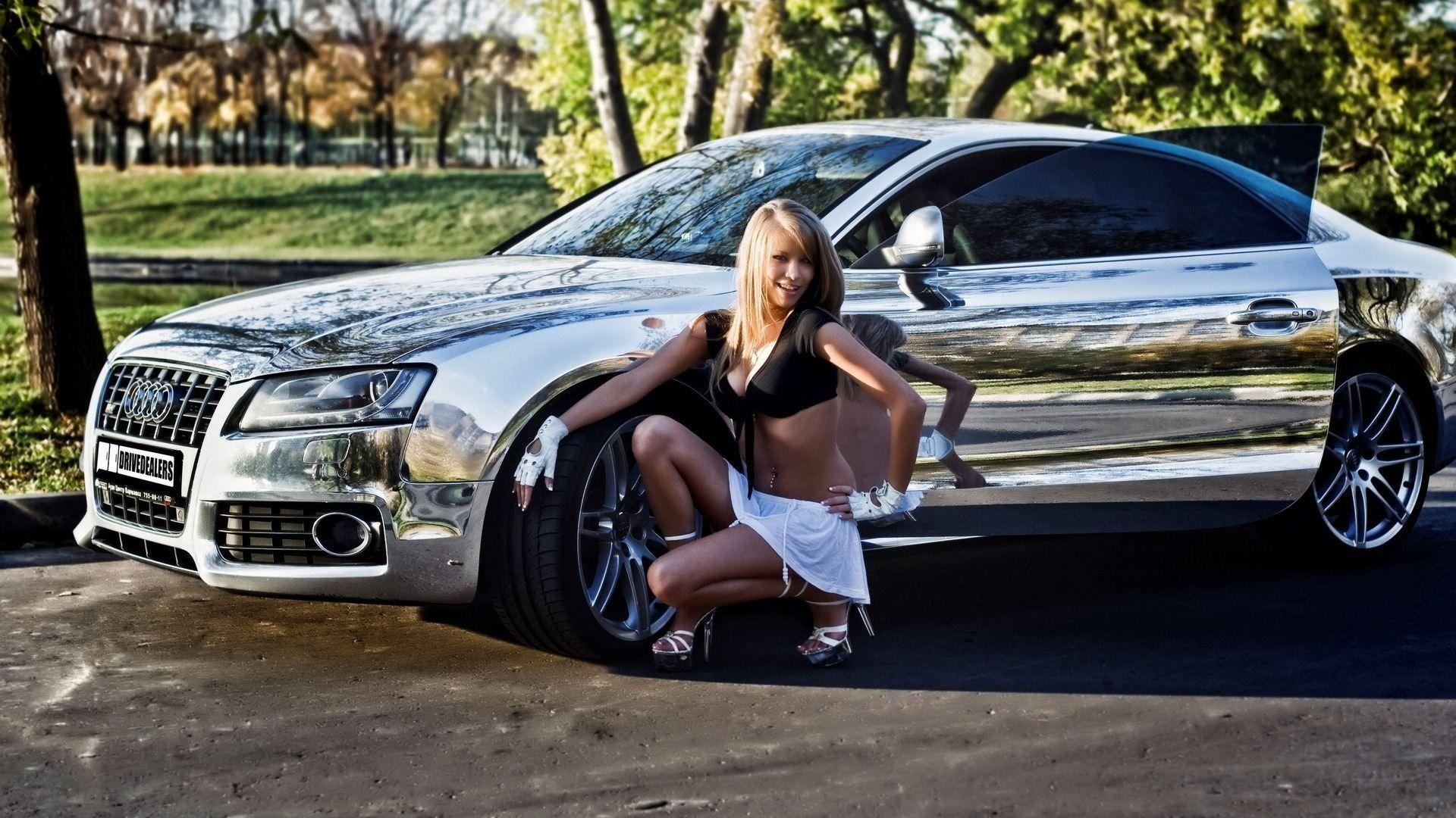 Audi S5 Chrome Wallpaper Audi Girls Audi Girl Audi S5