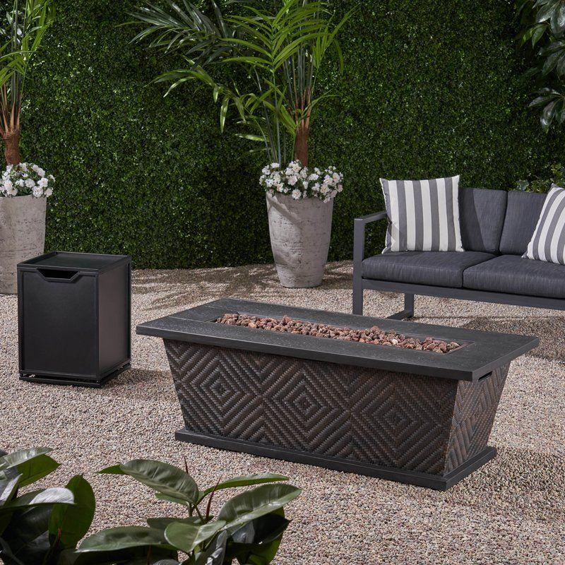 patricia cancrete propane fire pit table in 2019 patio gas fire rh pinterest com